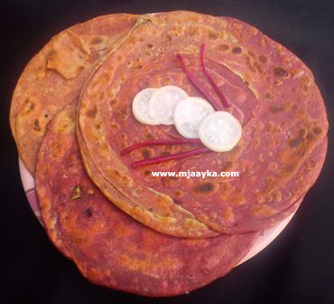 Beetroot Lachha Paratha Recipe