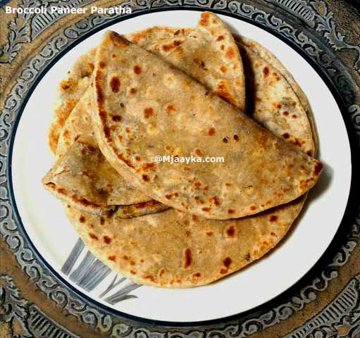 Broccoli Paneer Paratha Recipe