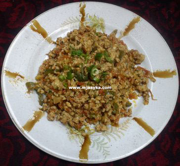 Chinese Egg Bhurji Recipe