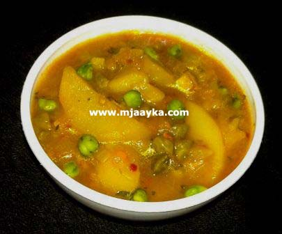 Choliya Aloo Ki Sabji Recipe