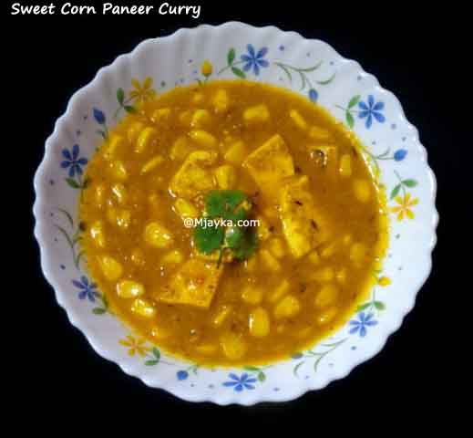 Sweet Corn Paneer Curry Recipe