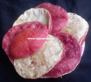 Double-layer-beetroot-poori