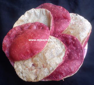 Beetroot Double Layer Poori Recipe