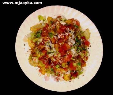 Delhi Special Fried Aloo Chat Recipe