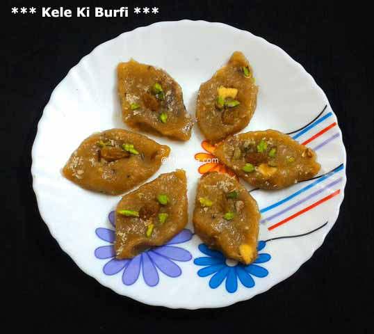 Kele Ki Burfi Recipe