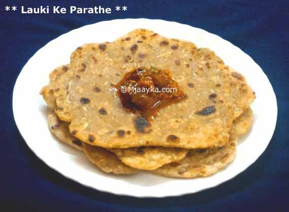 Lauki/Bottlegourd Paratha Recipe