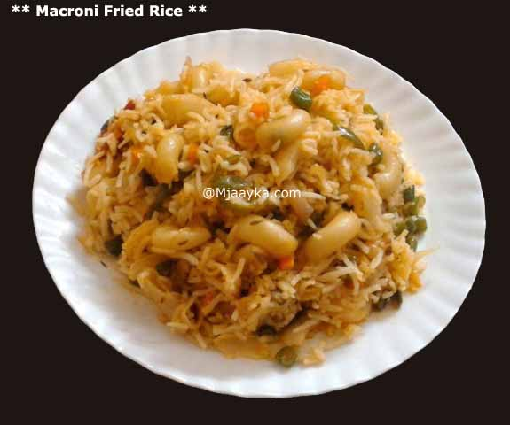 Macroni Fried Rice Recipe