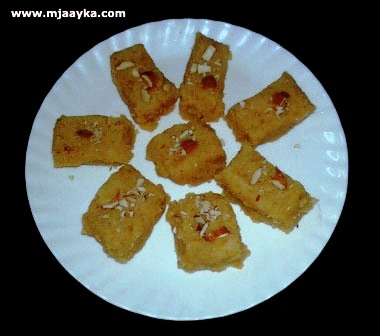 Moong Dal Ki Burfi Recipe