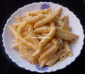 Penne-pasta-in-white-sauce