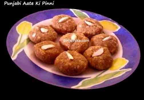 Punjabi Aate ki Pinni Recipe