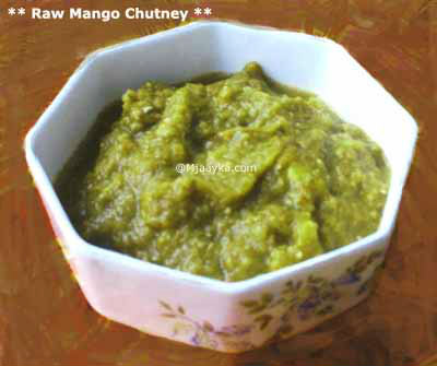 Raw Mango Chutney Recipe