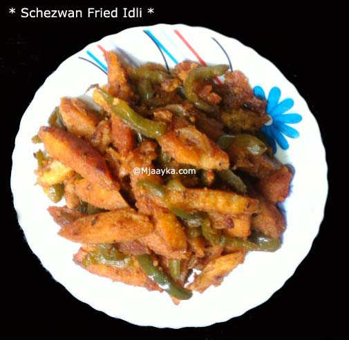 Schezwan Fried Idli Recipe