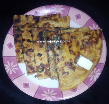 Stuffed Spring Onion Paratha Recipe