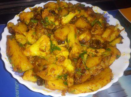 gobhi aalo ki sabji mjaayka .com