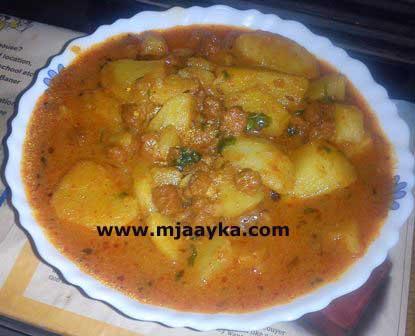 Mithauri / Mangodi Aloo Ki Sabzi Recipe