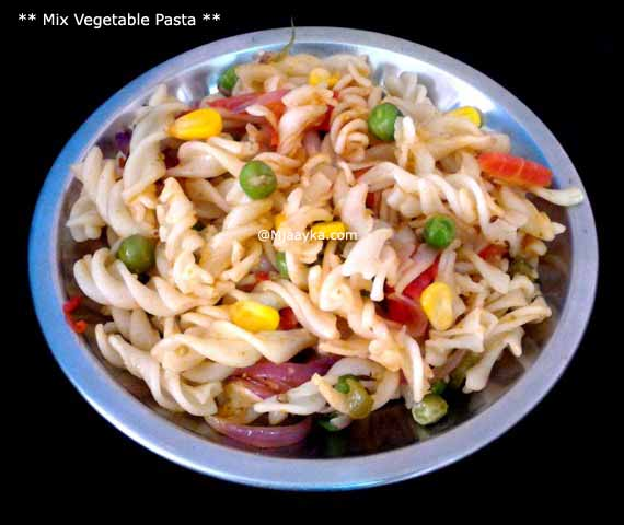 Mix Vegetable Pasta Recipe
