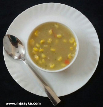 Vegetable Sweet Corn Soup Recipe