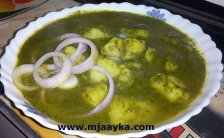 Potato Spinach Curry